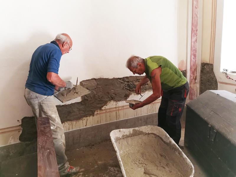 Nouveaux travaux à la chapelle